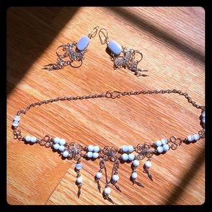 Handmade Silver with Blue beads Tribal Jewelry